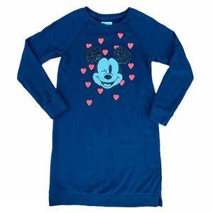 Gap Disney Sequin Mickey Mouse Sweatshirt Dress